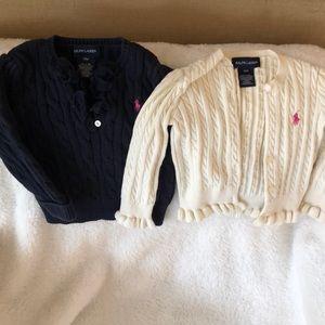 Lot of 2 Ralph Lauren sweaters 18 mos